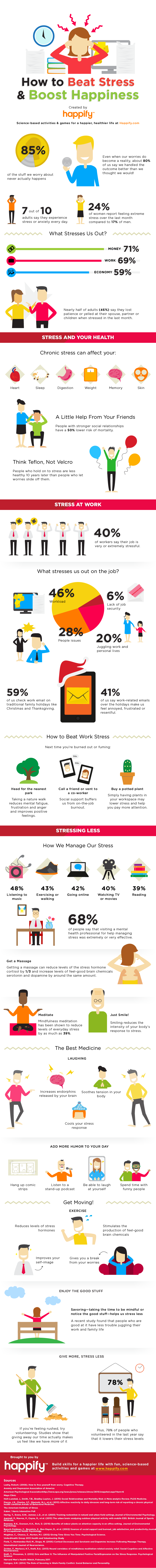 reduce stress infographic