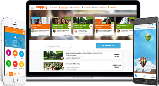 happify on web and mobile devices